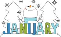 January clipart